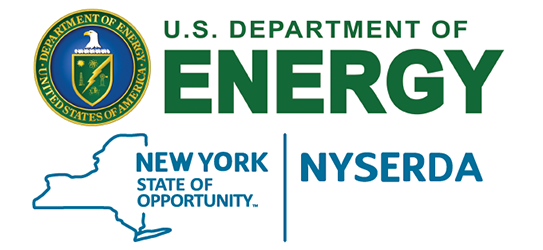 combined logo for U.S. Department of Energy and NYSERDA